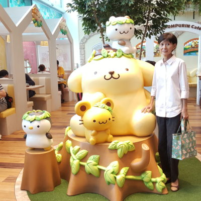 Pompompurin Cafe At Orchard Central, Singapore - Pompompurin Mascots