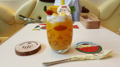 Pompompurin Cafe At Orchard Central, Singapore - Mango Juice ($11.99)