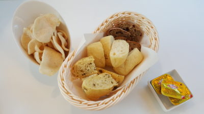 MoCA Cafe At Loewen, Dempsey, Singapore - Complimentary Bread and Crackers