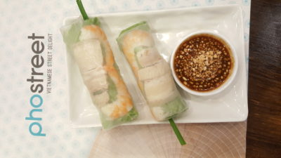 Pho Street New Dish Bun Cha At Bedok Mall - Fresh Summer Rolls with Prawn, Pork Belly and Fresh Herbs ($4.90 / 2 pc)