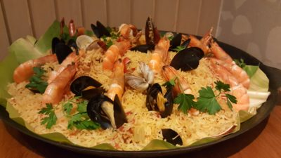 Spice Brasserie's Union of Crabs and Lobsters Dinner Buffet At Parkroyal On Kitchener - Crustacean Paella