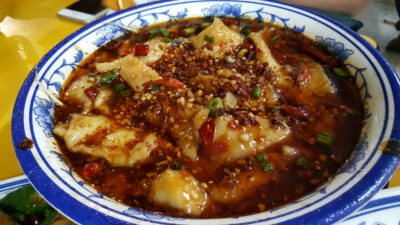 Si Chuan Flavour Crab Stall 川味坊香辣蟹 at People's Park Food Centre, singapore - Sizzling Spicy Fish 沸腾鱼 ($20)
