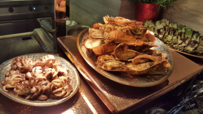 Hawker Fare Buffet At Makan @ Jen, Hotel Jen Orchardgateway, Somerset, Singapore - BBQ Seafood