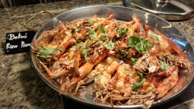Hawker Fare Buffet At Makan @ Jen, Hotel Jen Orchardgateway, Somerset, Singapore - Baked River Prawn