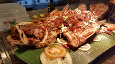 Hawker Fare Buffet At Makan @ Jen, Hotel Jen Orchardgateway, Somerset, Singapore - Grilled Fish