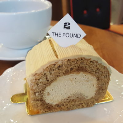 The Pound Cafe With Korean Vibes At Jalan Sultan in Bugis, Singapore - Coffee Roll Cake ($4.50)
