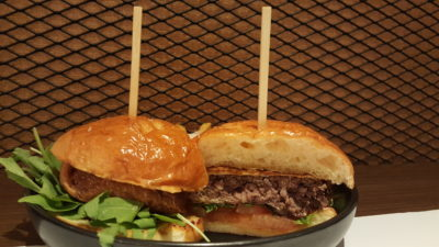 Froth Shifted To Ascott Raffles Place Singapore - Five Spice Wagyu Patty Burger Side View
