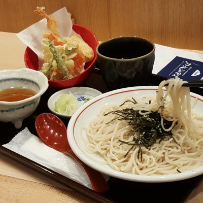 Yomoda Soba In Japan Food Town In Orchard, Singapore - Tempura Seiro Soba ($23)
