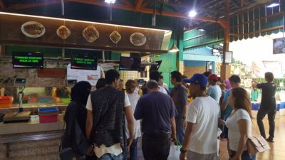 Bandar DJakarta @ Ancol, Jakarta, Indonesia - Queue to get assistance for seafood