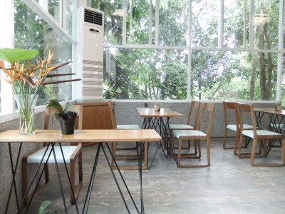 NuArt Sculpture Park at Bandung, Indonesia - Copper & Brass Cafe Dinning Area
