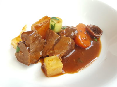 Osia Steak and Seafood Grill At Resort World Sentosa Singapore - Lamb Shoulder served in dish