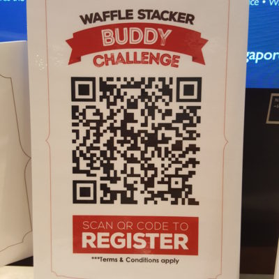 O'Coffee Club's Waffle Stacker Buddy Challenge - QR Code for registration