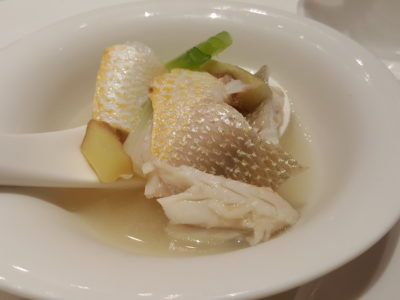 Putien Yellow Croakers In Five Different Dishes - Closed up of the '100-Second' Stewed Yellow Croaker Meat