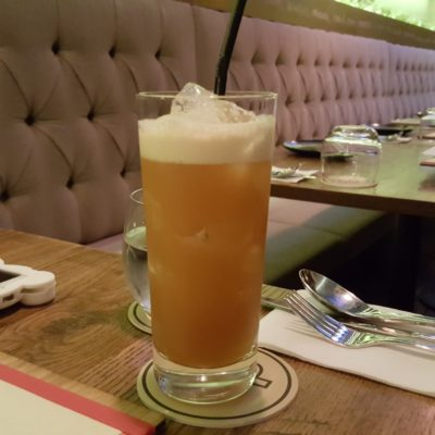 Open Door Policy Introducing Gluten & Diary Free Menu at Tiong Bahru, Singapore - Earl Grey & Passionfruit Iced Tea ($10)