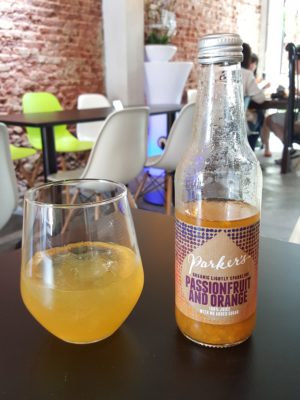 Epiphyte Cafe At Neil Road In Tanjong Pagar, Singapore - Passionfruit & Orange Organic Lightly Sparkling ($6.50)