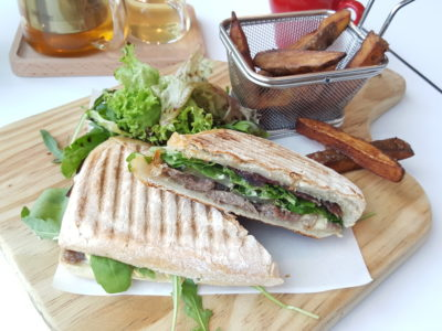 Otto's Deli Fresh At Raffles Holland V In Holland Village, Singapore - Pressed Beef Steak Ciabatta ($20)