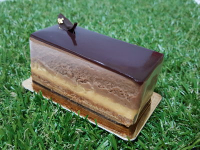 Amiral Atelier At Paragon In Orchard, Singapore - Chocolate mousse cake with coffee & caramel ($8.50)
