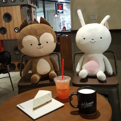 Dal.komm Cafe At Centrepoint - Mascots with food and drinks