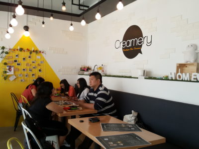Creamery Boutique Ice Creams At Tyrwhitt Road - Dinning Area