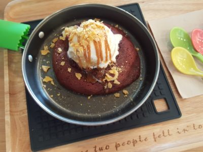 Creamery Boutique Ice Creams At Tyrwhitt Road - Red Devil Lava Cookies with Banoflee Ice Cream ($12.70)