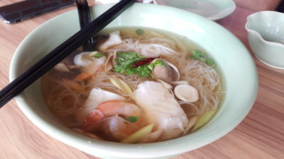 Thai Accent Restaurant At VivoCity - Spicy Tom Yam Mee Hoon Soup with Seafood, Clear ($14.90)