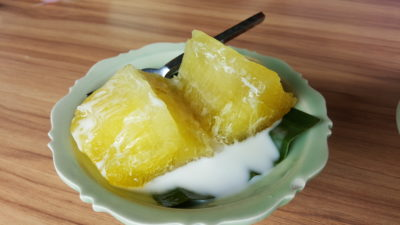 Thai Accent Restaurant At VivoCity - Steamed Tapioca served with Coconut Milk ($5.90)