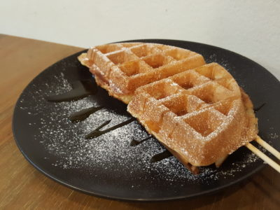 Ice Cream Skool At Tampines Street 42 - Chicken-in-a-waffle ($4.90)