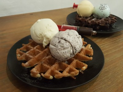 Ice Cream Skool At Tampines Street 42 - Buttermilk Waffle ($3.50)