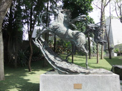 NuArt Sculpture Park at Bandung, Indonesia - Front View of the horse