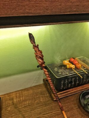Hansul Korean Dining Bar At Tanjong Pagar - Long Legged Octopus Skewer (S$8++)