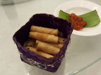The Peranakan Restaurant At Claymore Connect - Hae Bee Hiam Roll with Sambal Chilli