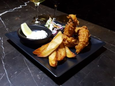 South Beach Avenue, The D-Place To Be For Everyone - Alchemist, Ale Battered Sea Bass ($15.90)