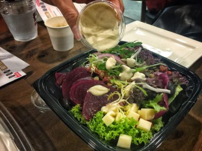 O'Coffee Club Xpress @ Raffles Xchange, O'Coffee Club Launches 'Grab & Go' Concept – Beetroot and Mozzarella Salad