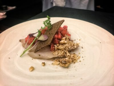 World Gourmet Summit 2017 – Awards of Excellence Presentation Ceremony and Opening Reception - Canadian Red Fish Crudo by Wooloomooloo