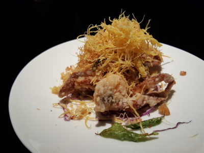 Hakkasan At The Bund, Awarded 2nd Best Restaurant A In China Restaurant Week Spring Winners' Edition 2017 - Golden fried soft shell crab 金丝软壳蟹