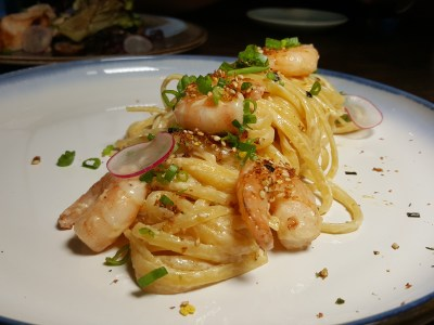 Patissez Singapore Refreshed Menu At Raffles V, With Asian Inspired Elements As Highlight And Healthier Choices Too - Miso Linguine ($19)
