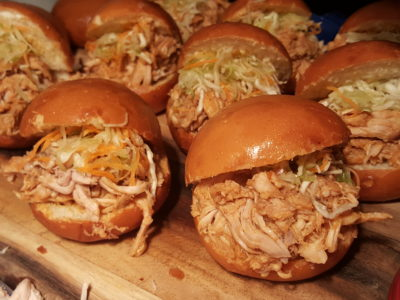 The Carvery's Hearth & Heat BBQ At Park Hotel Alexandra - Hickory Pulled Pork on fried bun