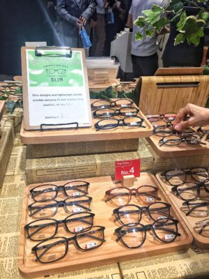 Leading Japanese Eye-wear Chain Zoff Flagship Store in Singapore At Orchard Central - Spectacles on Display (Super Light Slim)
