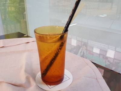 Steamroom with The Pillar and Stones (SRPS) At Orchard Central - Lemongrass Soda ($4.50)