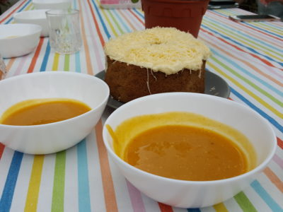 Kitchen Aid Mini Moment Garden Party For The Launch Of Kitchen Aid Mini Stand Mixer - Puree Pumpkin Soup with a touch of Coconut Cream