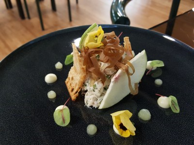 Steamroom with The Pillar and Stones (SRPS) At Orchard Central - Crab Spanner Salad ($18)