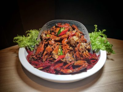 Spice Brasserie's Endless Crabs Party Dinner Buffet At Parkroyal On Kitchener – Stir Fried Crab in Jalapeno