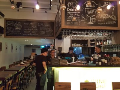 Wine & Chef At Keong Saik Road For Quality Wine At Wallet Friendly Price - Counter view from the entrance