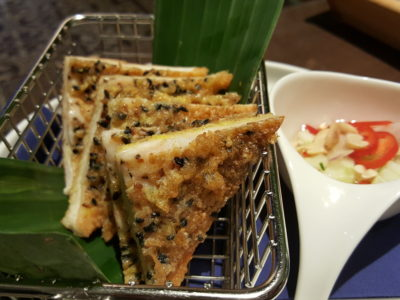 Blue Jasmine At Park Hotel Farrer Park Offering A Slice Of Thai To Little India - Fried Shrimp Paste On Toast