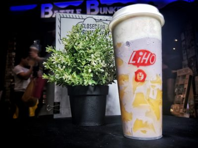 LiHO Cheese Tea! Have You Tried Them Yet? Singapore - Cheese Yam Smoothie with Custard Pudding (S$7.60 Nett)