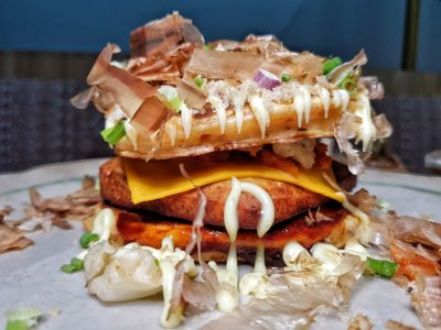 Tiong Bahru Bakery Introduces Unique Pancake Burgers In Their New Dinner Menu At Raffles Place, City Hall, Singapore - Kim Cheesy Pancake Burger (S$23++)