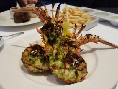 Marriott Pool Grill, Delish Food With Pool and Orchard Skyscrapper View In Al Fresco Style Dinning - Whole Lobster