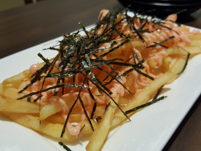 Shio & Pepe, Offering Japanese-Italian Cuisine At The Casual Dining Zone In Emporium Shokuhin - Mentaiko Fries ($7.50++)