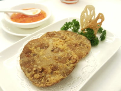 Joyden Canton @ Istean Scotts Offering An Array of Guangzhou Specialties At Its First Outlet In Town, Shaw Centre - Daliang Pan-Fried Stuffed Lotus Root ($9)