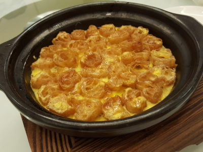 Joyden Canton @ Istean Scotts Offering An Array of Guangzhou Specialties At Its First Outlet In Town, Shaw Centre - Twice-Baked Golden Egg Gratin with Caramelised 'You Tiao' ($18)